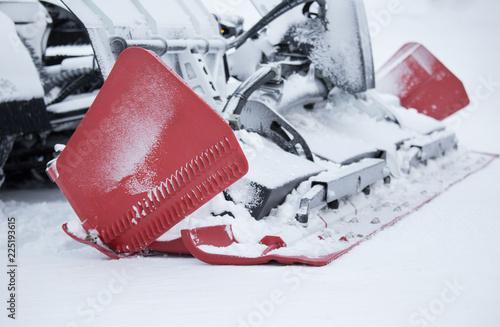 Snowcat machine for ski slope preparation
