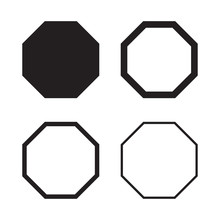 Set Of Octagon In Balck For Yo...