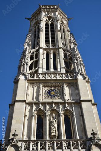 Fotografía  Tour de l'église Saint-Germain l'Auxerrois à Paris, France