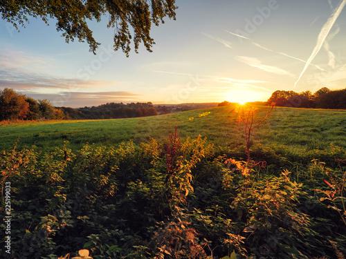 Keuken foto achterwand Zwart Early Autumn countryside morning,Northern Ireland