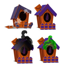 Set Of Wooden Birdhouses With ...