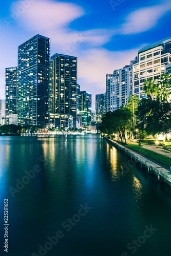 The Miami Skyline from Brickell Canvas Print