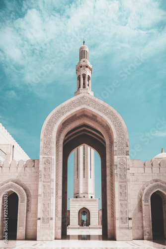 Foto mosque in muscat, oman