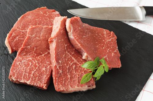 Staande foto Vlees Marbled beef