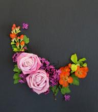 Decorative Flowers Composition