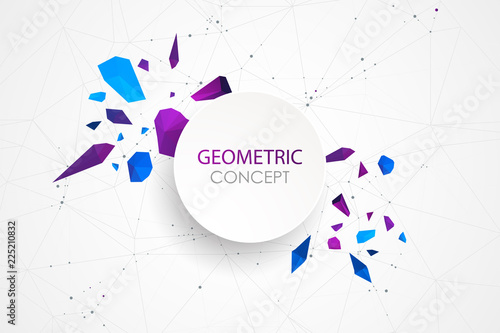 Fotografía Abstract polygonal vector background with connecting dots and lines