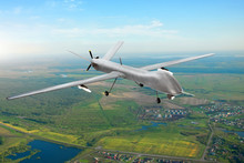 Unmanned Military Drone On Pat...