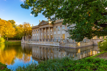 Royal Łazienki Park in Warsaw, Palace on the water, Poland