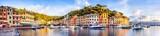 Portofino Hafen Panorama, Ligurien, Italien