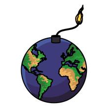 World Wick Bomb Cartoon