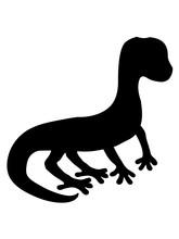 Silhouette Schatten Eidechse Echse Gecko Schlange Reptil Blindschleiche Dino Waran Comic Cartoon Süß Niedlich Haustier Klein Clipart