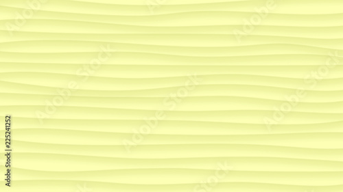 Abstract background of wavy lines with shadows in light yellow colors