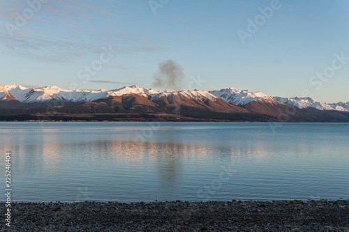 Valokuva Fire burning near Lake Pukaki, New Zealand