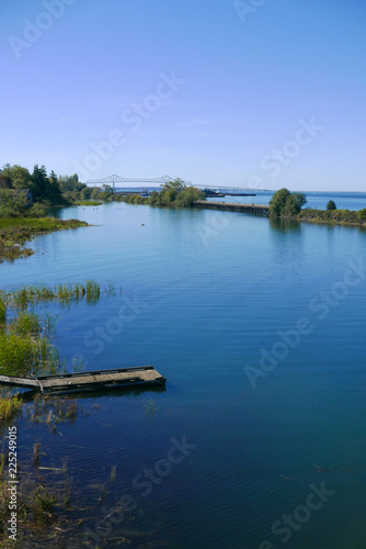 Fotografie, Obraz  A vertical, scenic view of the mouth of the Columbia River