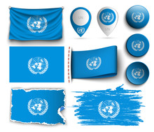 Set Of Unesco Flags Collection...