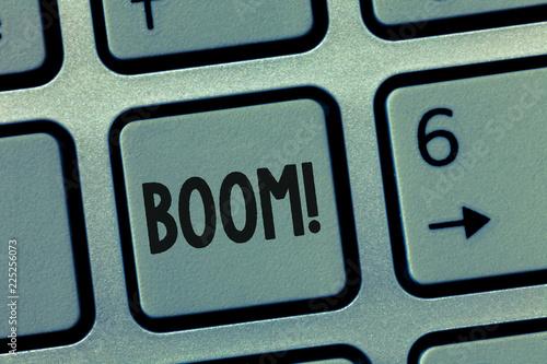 Fotografie, Obraz  Conceptual hand writing showing Boom