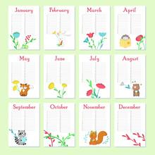 Planner Calendar Vector Templa...