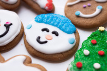 Boy Snowman Cookie