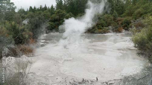 Printed kitchen splashbacks River Mystical hot mud pools near Rotorua, New Zealand
