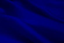 絹の布地 青