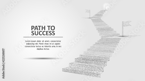 Fotomural Path to success vector geometric polygonal background