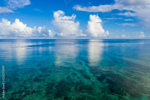 Aerial of Ishigaki Island sea ocean
