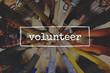 Volunteer people make a hands join together