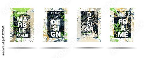 Dynamic Marble Texture Vector Frame Design  Suminagashi