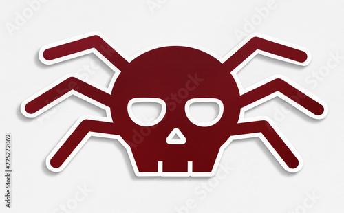 Isolated malware virus icon illustration