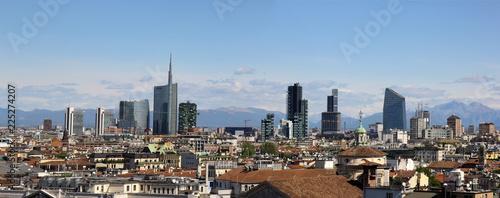 Fotobehang Milan Milan city panoram viewed from the top of Milan Cathedral