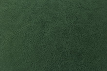 Dark Green Elegance Leather Texture For Background With Visible Details