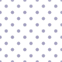 Seamless Navy Blue Snowflake Pattern On White Background, Repeating Abstract Background, Christmas Background Concept.