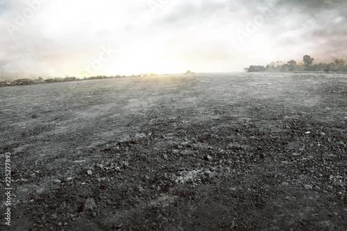 Fototapeta Dry ground background obraz