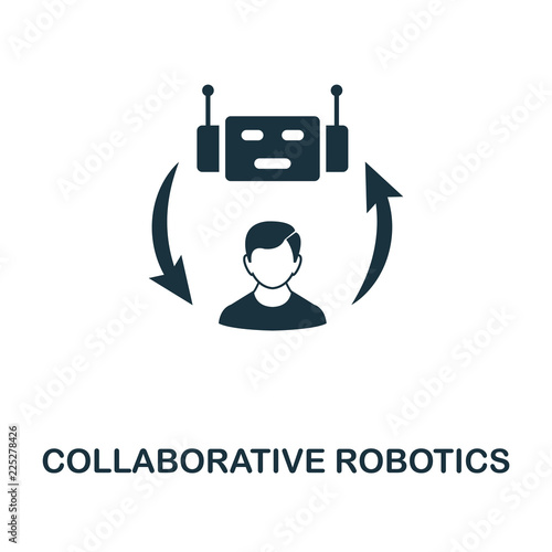 Fotografie, Obraz  Collaborative Robotics icon