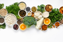 Calcium Vegetarians Top View Healthy Food Clean Eating