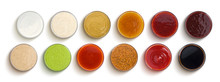 Different Sauces Isolated On W...