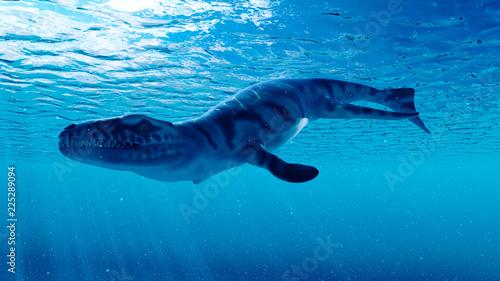 Photo  3d rendered illustration of a dakosaurus
