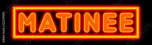 Fotografía  Matinee - glowing text on black background