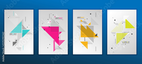 Slika na platnu Abstract geometric composition forms modern background with decorative triangles