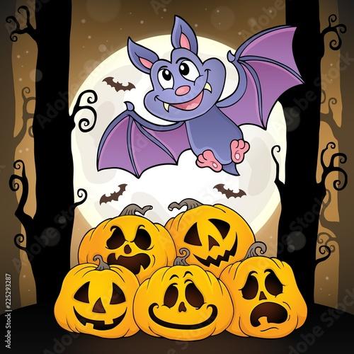 Fotobehang Voor kinderen Cartoon bat topic image 4