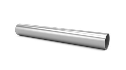 3D Rendering Metal Pipe isolated on white
