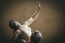 Ratto Delle Sabine Is A Statue, By Giambologna 1574, In The Loggia Dei Lanzi In Piazza Della Signoria In Florence.