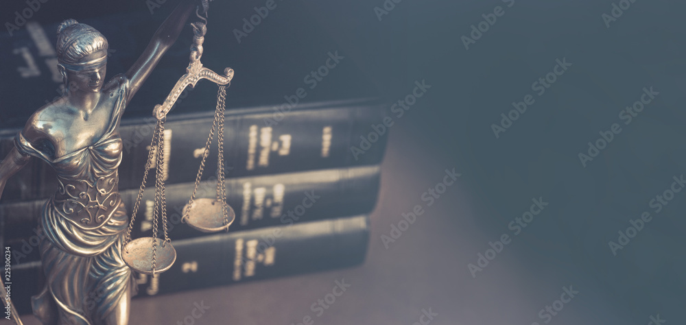 Fototapeta Legal law concept image horizontal banner style