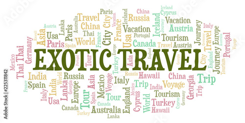 Exotic Travel word cloud.