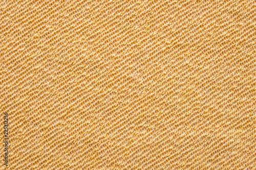 Fotobehang Stof Yellow cotton fabric textured background, fashion pattern design textile concept