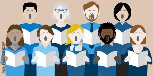 Stampa su Tela choir singers