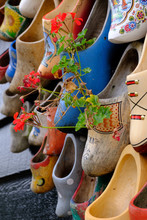 Traditional Wooden Shoes In Ho...