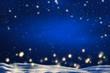 sternenhimmel über nächtlicher winterlandschaft