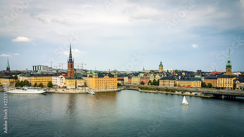Poster Stockholm Shot of Stockholm sweden skyline showing traditional city centre building