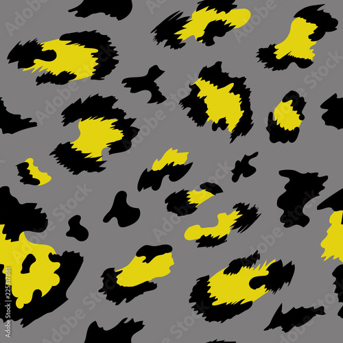 Leopard pattern print animal vector skin Canvas Print
